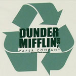 Dunder Mifflin Recycling Logo - The Office T-shirt