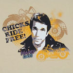 Chicks Ride Free - Happy Days T-shirt