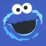 Cookie Monster Full Face - Sesame Street Youth T-shirt