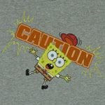 Caution - Spongebob Squarepants Toddler T-shirt