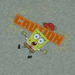 Caution - Spongebob Squarepants Youth T-shirt