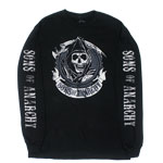 Distressed Logo - Sons Of Anarchy Long Sleeve T-shirt