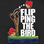 Flipping The Bird - Angry Birds Sheer Women's T-shirt