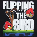 Flipping The Bird - Angry Birds T-shirt