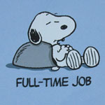 Full-Time Job - Snoopy - Peanuts T-shirt