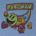 Vintage Pac-Man With Rainbow - Pac-Man T-shirt