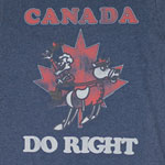 Canada Do Right - Rocky And Bullwinkle Sheer T-shirt
