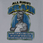 All Right Brain - Simpsons T-shirt