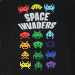 Colorful Aliens - Space Invaders T-shirt