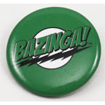 Green Bazinga! - Big Bang Theory Pin