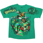 Brick Background - Teenage Mutant Ninja Turtles Youth T-shirt