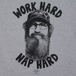 Work Hard Nap Hard - Duck Dynasty T-shirt