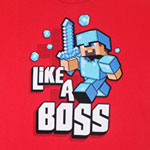 Like A Boss - Minecraft T-shirt