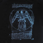 Vitruvian Angel - Dr. Who T-shirt