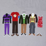 Just The Clothes - Big Bang Theory T-shirt