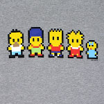 Pixel Family - Simpsons T-shirt