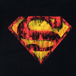 Runny Superman Logo - DC Comics T-shirt