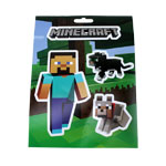 Steve With Pets - Minecraft Stickers