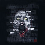Scattered Walker Names - Walking Dead T-shirt