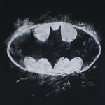 Batman Chalk Logo - DC Comics T-shirt