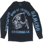 Blue Tone Reaper - Sons Of Anarchy Long Sleeve T-shirt