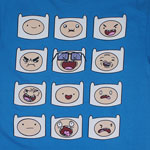 More Finn Faces - Adventure Time T-shirt