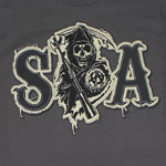 SOA Faux Patch - Sons Of Anarchy T-shirt