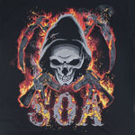Single Reaper Flames - Sons Of Anarchy T-shirt