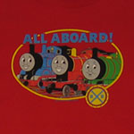 Thomas, Percy, and James All Aboard - Thomas The Tank Engine Juvenile And Toddler T-shirt