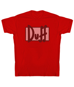 Duff Logo - Duff Beer - Simpsons Sheer T-shirt