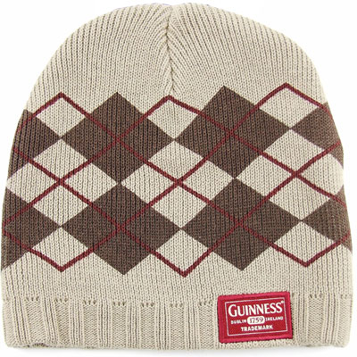 Knit Argyle Pattern : Argyle Pattern - Guinness Knit Hat - MyTeeSpot - Your T-shirt Store