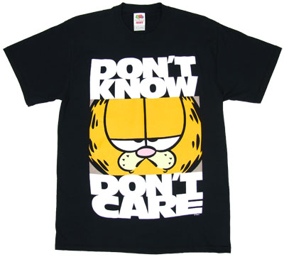Don\&#039;t Know Don\&#039;t Care - Garfield T-shirt 
