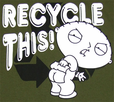 Recycle This - Stewie - Family Guy Sheer T-shirt