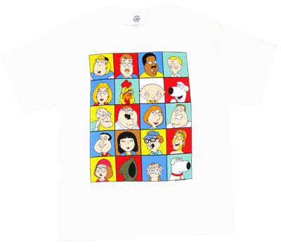 Character Faces - Family Guy T-shirt