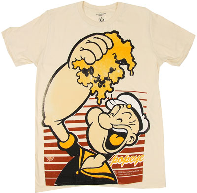 Handful Of Spinach - Popeye Sheer T-shirt