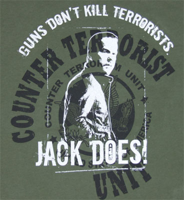 Guns Don\'t Kill Terrorists, Jack Does - 24 Sheer T-shirt