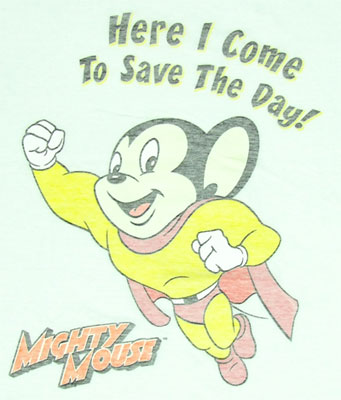Here I Come To Save The Day - Mighty Mouse Sheer T-shirt