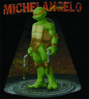 teenaged muntant ninja turle michael angelo