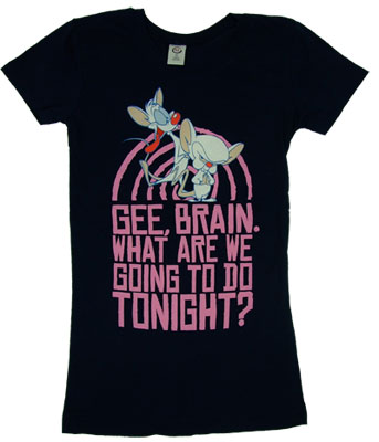 Take Over The World - Pinky And The Brain Sheer Womens T-shirt