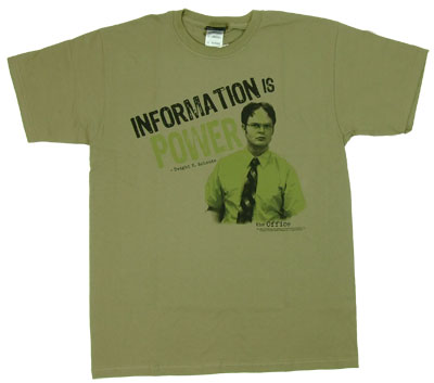 Information Is Power - The Office T-shirt