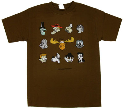 Character Faces - Rocky & Bullwinkle T-shirt