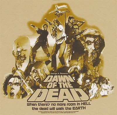 Vintage Poster - Dawn Of The Dead T-shirt