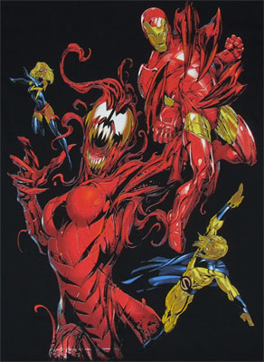 Carnage And Iron Man - Marvel Comics T-shirt