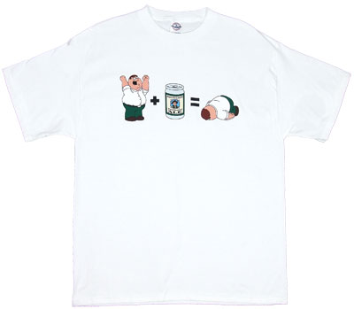 Peter And Beer Equation - Peter - Family Guy T-shirt