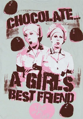 Chocolate A Girl\'s Best friend - I Love Lucy Sheer Women\'s T-shirt