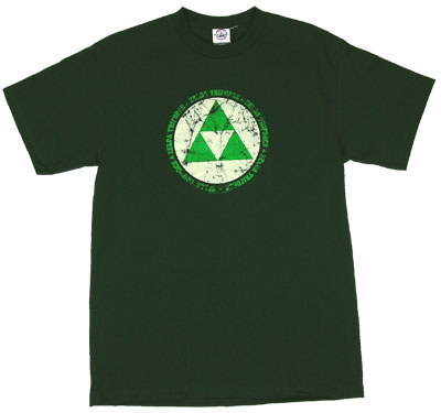 Zelda Triforce Distressed - Legend Of Zelda T-shirt