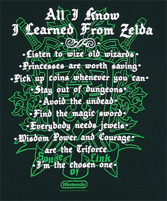 All I Know I Learned From Zelda - Zelda Boys T-shirt