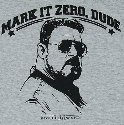Mark It Zero Dude - Walter - Big Lebowski Sheer T-shirt