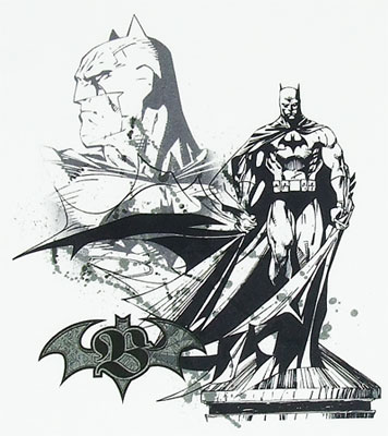 Batman Shadow Sketch - Batman - DC Comics T-shirt