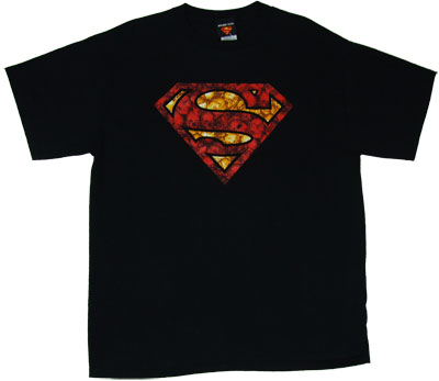 Superman Logo With Skulls - DC Comics T-shirt
